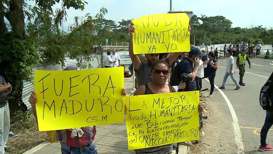 L'aide humanitaire reste bloquée à la frontière vénézuélienne