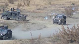 Military vehicles from the army of North Macedonia