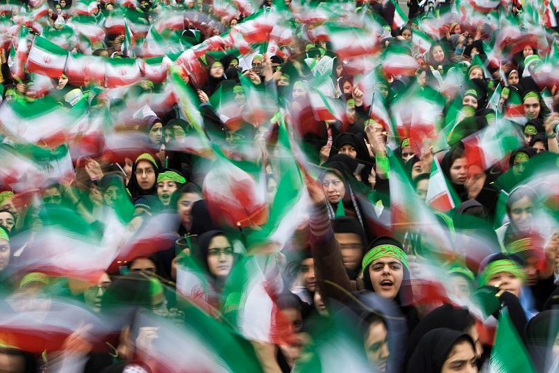 Iranians mark anniversary of victory day in 1979 revolution