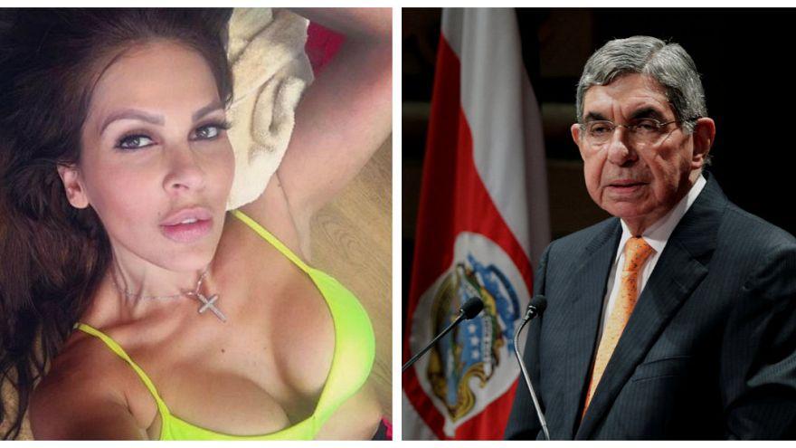 Eski Kosta Rika güzeli Yazmin Moralez//Kosta Rika Devlet Başkanı Oscr Arias