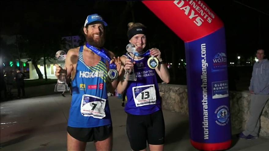 Susannah Gill and Mike Wardian celebrate WMC win in Miami