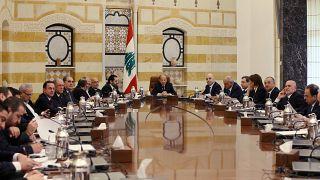 جانب من اجتماع الحكومة اللبنانية الجديدة في بعبدا
