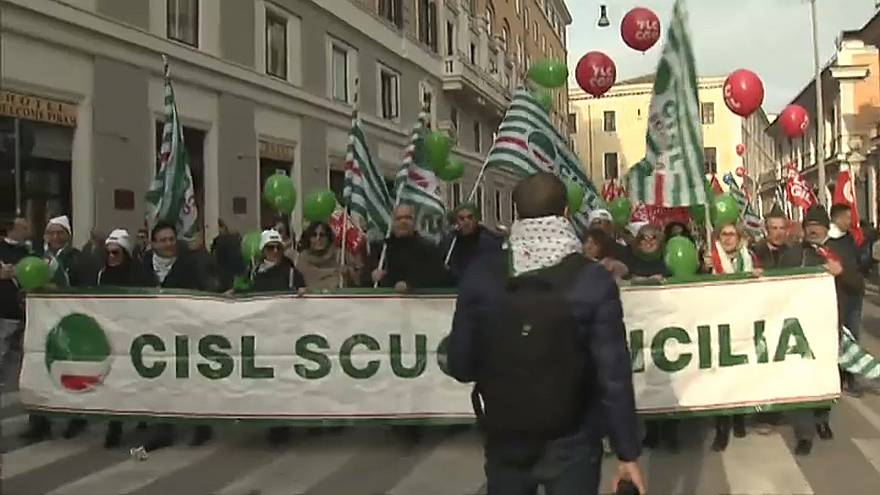 La gronde des syndicats italiens