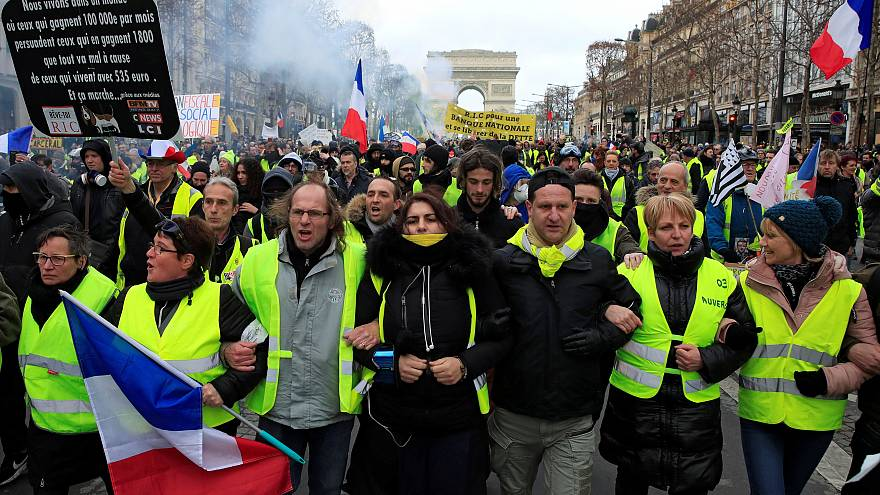 Watch: 'Gilets jaunes' protesters clash with police in Paris