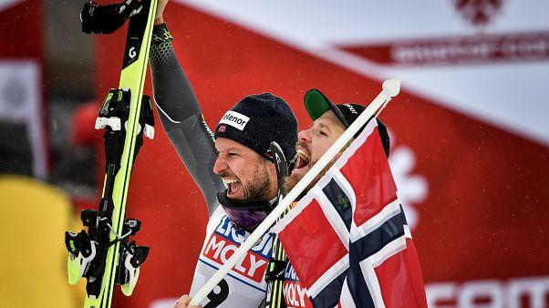 Noruegueses dominam Mundial de esqui alpino