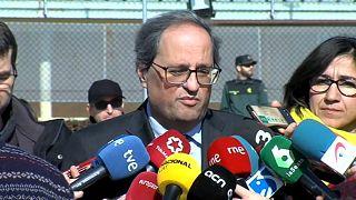Torra visita independentistas catalães que vão a julgamento