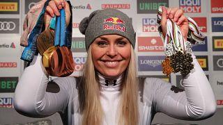 Skirennfahrerin Lindsey Vonn fährt mit Bronze in den Ruhestand