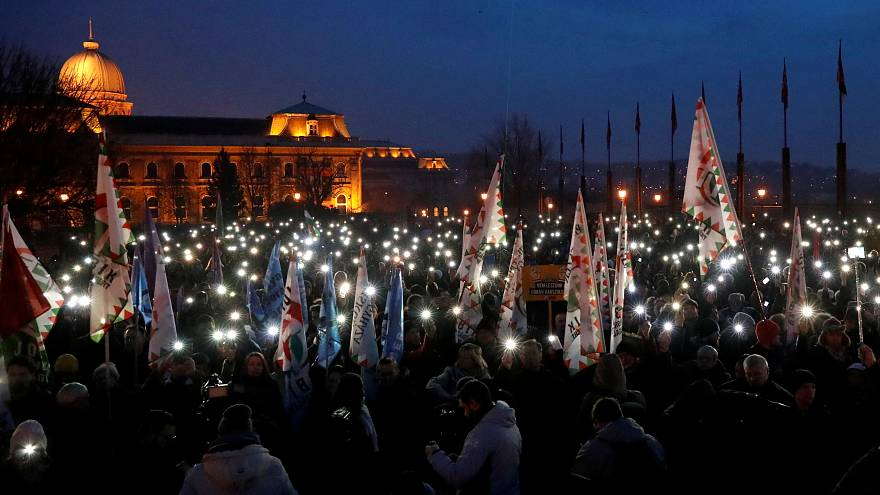 Hungarians protest 'slave law' as Orban pledges to boost population