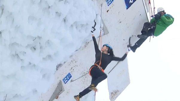 Россиянин досрочно стал чемпионом мира по ледолазанию