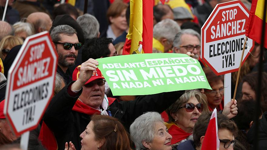 Katalonien-Streit: Anti-Regierungsproteste in Madrid