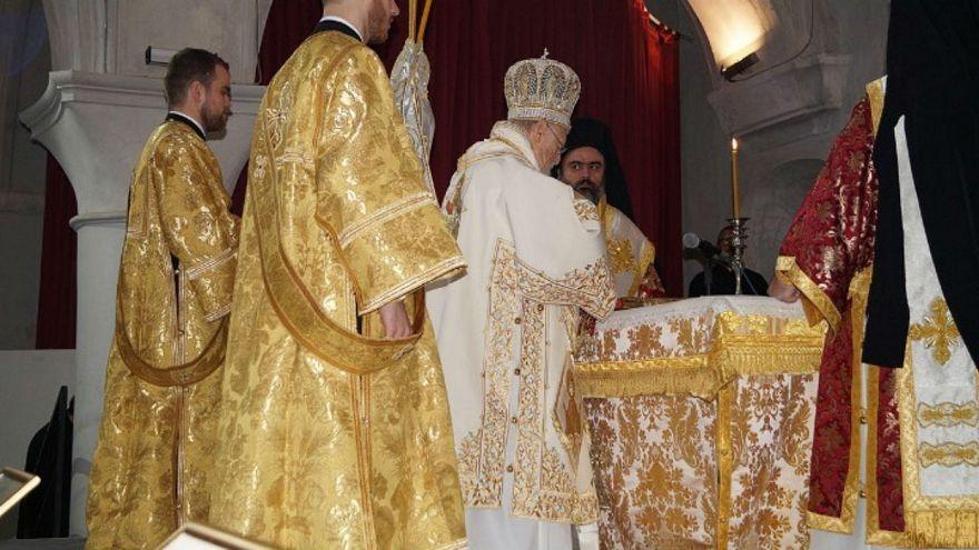Λειτουργία στην εκκλησία του Αγ. Χαραλάμπους στο Τσεσμέ