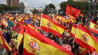 Was macht Frankreichs Ex-Premier Manuel Valls auf der Demo in Madrid?