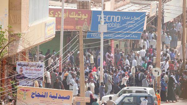 صورة لمسيرة في العاصمة السودانية الخرطوم