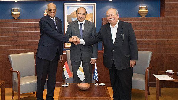 Λευκωσία: 1η Τριμερής Προέδρων Κοινοβουλίων Κύπρου, Ελλάδας, Αιγύπτου