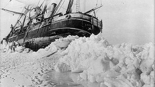 Shackleton's expedition to the Antarctic last moments of the Endurance.