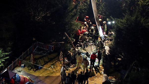 سقوط مروحية عسكرية في اسطنبول