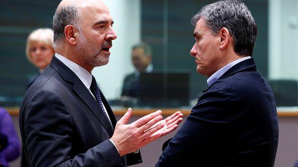 Еврокомиссар Московиси и глава минфина Греции, 11 февраля 2019
