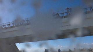 Milchregen auf der Autobahn