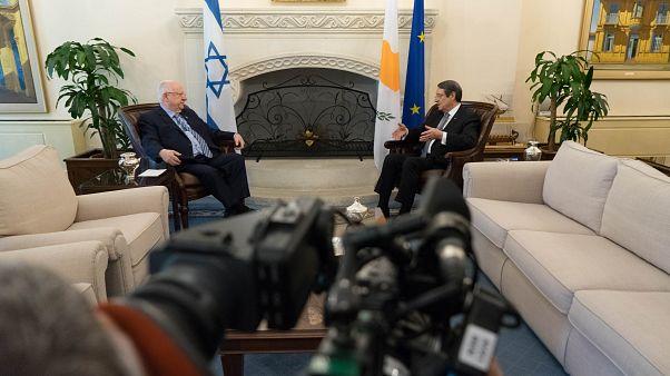 Αναστασιάδης - Ρίβλιν:  EastMed και τριμερής με την Ελλάδα στην ατζέντα της συνάντησης
