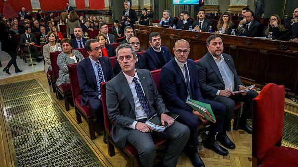Megkezdődött a katalán politikusok pere