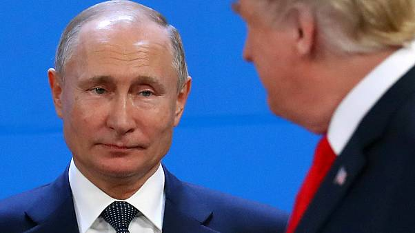 Vladimir Putin and Donald Trump at the G20 summit on November 30, 2018.