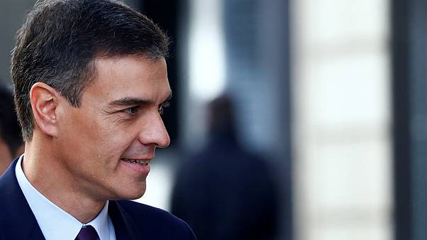 Spain's Prime Minister Pedro Sanchez arrives at Parliament in Madrid, 2019