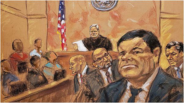 """زعيم المخدرات المكسيكي خواكين """"إل تشابو"""" غوزمان في محكمة بروكلين"""