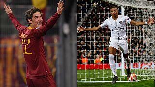 PSG tur kapısını 2-0 ile araladı, Roma genç Zaniolo ile avantaj yakaladı