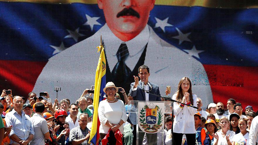 Venezuelan opposition leader Juan Guaido at rally Feb 12