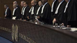 قضاة محكمة العدل الدولية بلاهاي