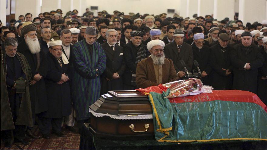 تشییع جنازه نخستین رئیس دولت اسلامی افغانستان