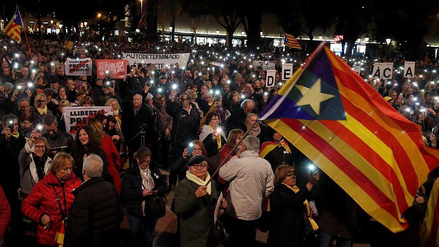 """El independentismo catalán se moviliza para arropar a los líderes del """"procés"""""""