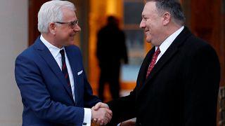 Polonya Dışişleri Bakanı Jacek Czaputowicz / ABD D.İ.B Mike Pompeo
