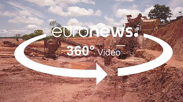 Take a 360° tour of an Angolan diamond mine