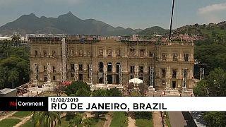 В Рио восстанавливают сгоревший музей