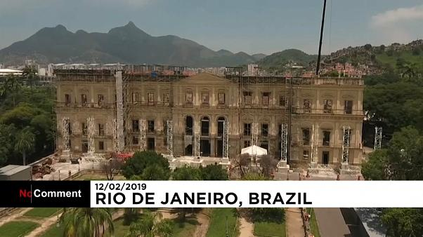 Restoration of Brazil's National Museum continues five months after devastating fire