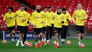 Borussia Dortmund trains ahead of Champions' League game