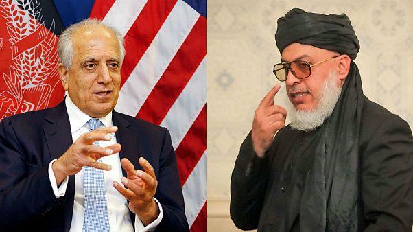 ABD Temsilcisi Zalmay Halilzad, Taliban Temsilcisi Abbas Stanakzai