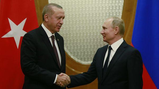 Cumhurbaşkanı Recep Tayyip Erdoğan, Rusya lideri Vladimir Putin