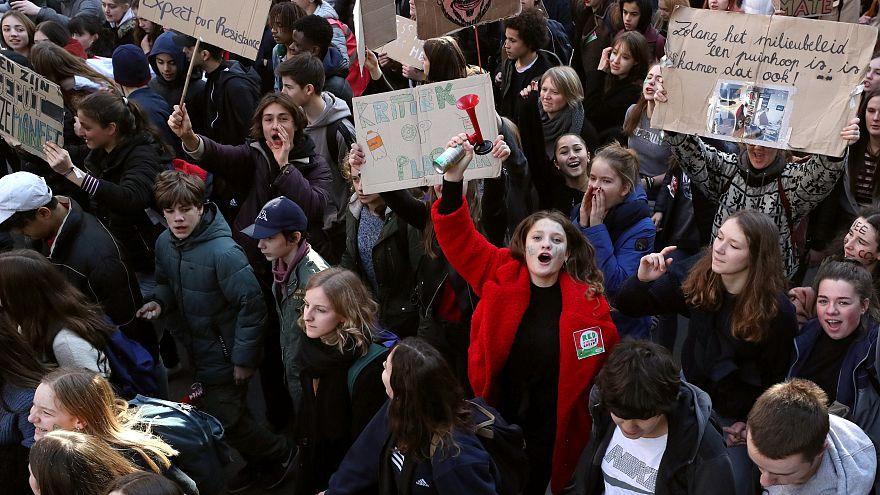 Manifestation à Bruxelles pour le climat