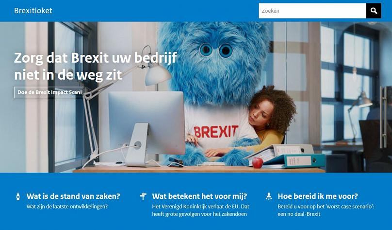 Brexit: Dutch campaign uses blue monster to represent Britain leaving the UK