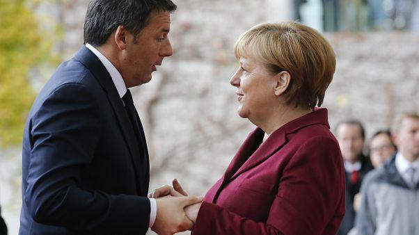 Matteo Renzi und Angela Merkel im Jahr 2016.