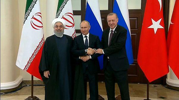 الرؤساء بوتين واردوغان وروحاني