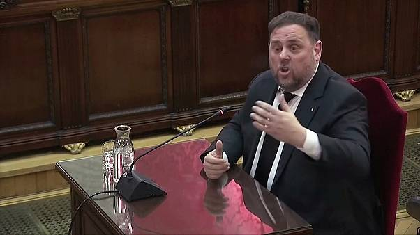 Former Catalan Vice President Oriol Junqueras testifies before judges