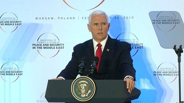 Nahostkonferenz: Pence kritisiert europäische Partner