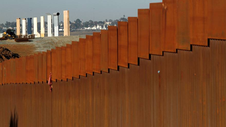 Prototypes for Trump's border wall between Mexico and the United States