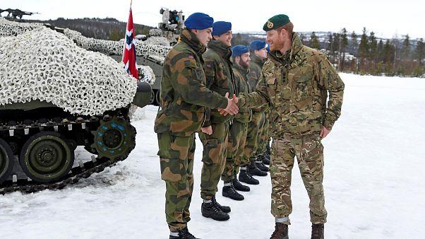 الأمير هاري في زيارة لقوات المشاة في القطب الشمالي