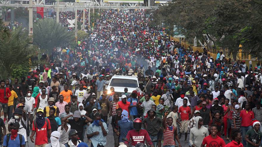 Protesters in Port-an-Prince