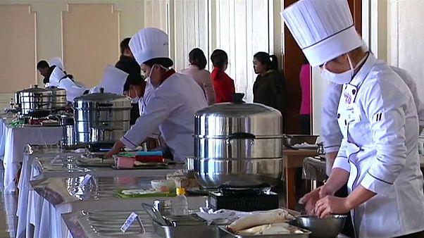 شاهد: كوريا الشمالية تحيي ذكرى ميلاد مؤسسها بمسابقة للطهي