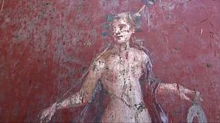 Video | İtalya'nın antik kenti Pompeii'de Narkissos freski bulundu